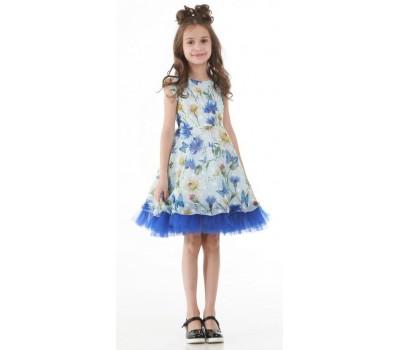 Платье 1713 голубое