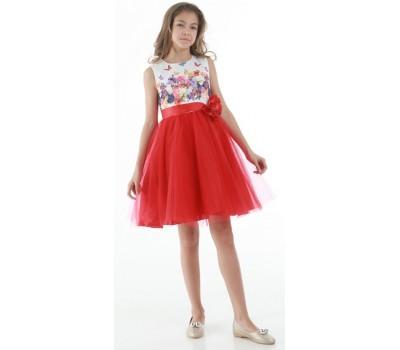 Платье 1715М красное
