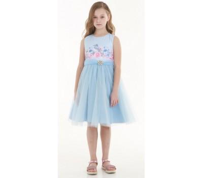 Платье 1718 голубое