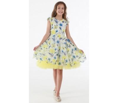 Платье 1719М желтое