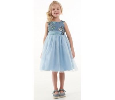 Платье 1722М голубое