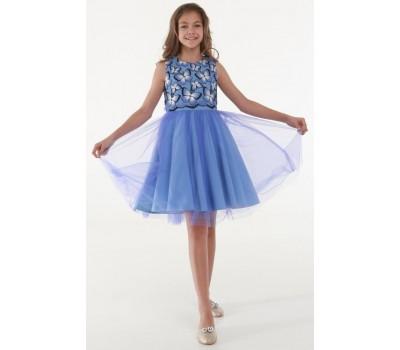 Платье 1731 фиолетовое