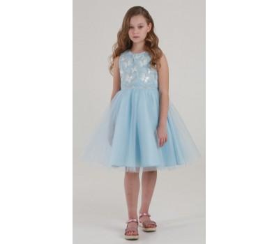 Платье 1731 голубое
