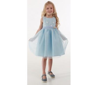 Платье 1731М голубое