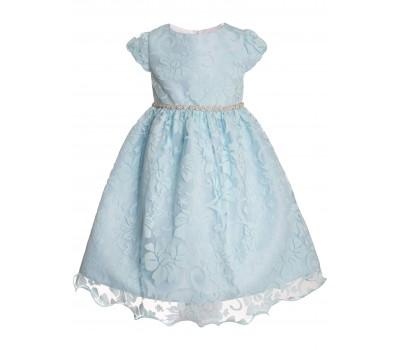 Платье 1732 голубое