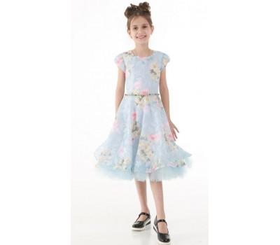 Платье 825 голубое