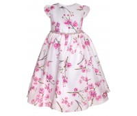 Платье 856М бело-розовое