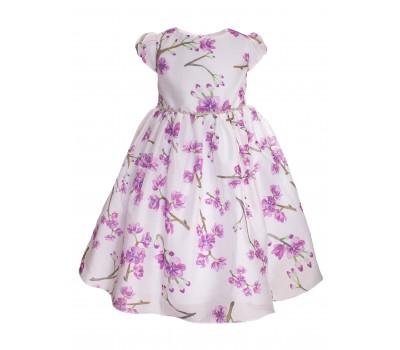 Платье 854М бело-фиолетовое