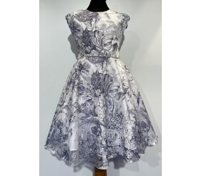 Платье 1806 бело-синее