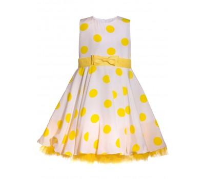 Платье 1914 белое с желтым