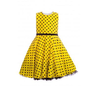 Платье 1914 желтое с черным