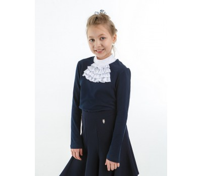 Блузка трикотажная 201804 синяя