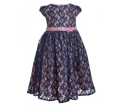 Платье 2108 сине-розовое
