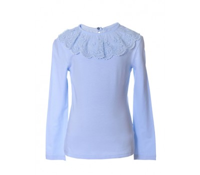 Блузка трикотажная 802 голубая