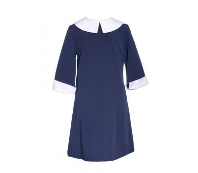 Платье школьное 822 синий