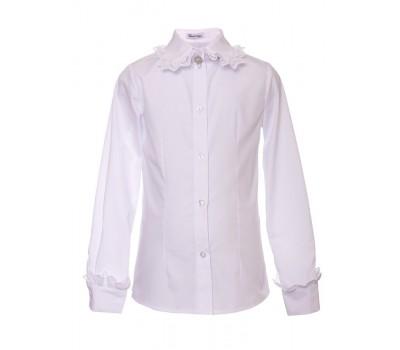 Блузка с длинным рукавом (828Бел)