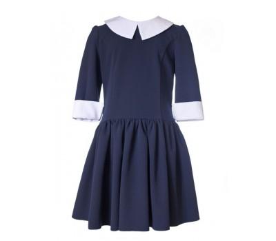 Платье школьное 916 синий
