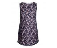 Платье коктейльное 991 синее