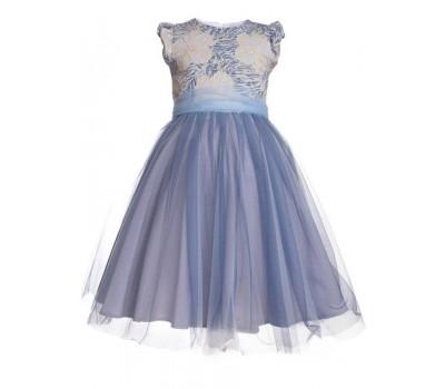 Платье 996 голубое