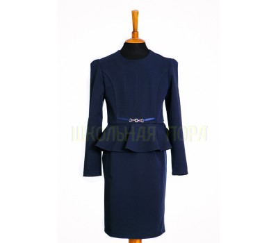 Платье школьное - 818син