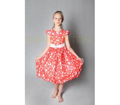 Платье - 831К-красный