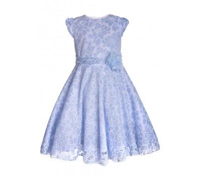 Платье 836 голубое