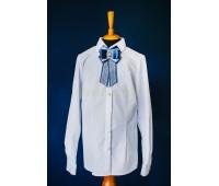 Блузка с длинным рукавом (801-2Бел)