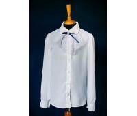 Блузка с длинным рукавом (825Бел)