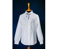 Блузка с длинным рукавом (826Бел)