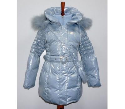 Зимнее пальто на пуху для девочки (14650)