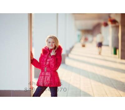 Зимняя куртка на пуху для девочки (2527)