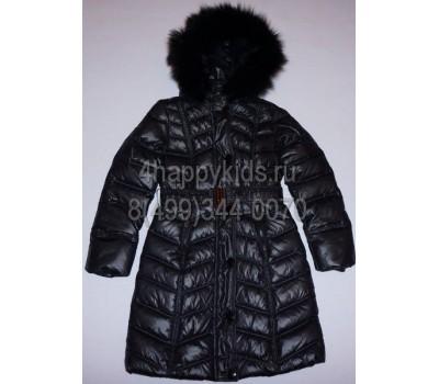 Зимнее пальто на пуху для девочки (2571)