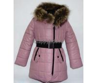 Зимнее пальто для девочки (2957р)